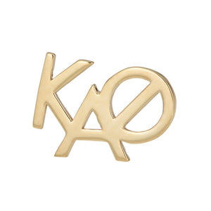 Kappa Alpha Theta sorority monogram stud earring in 14k Gold