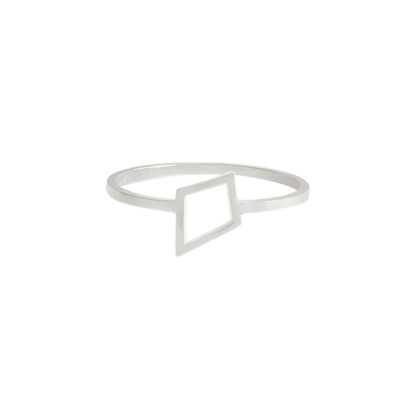 Open Kite Ring in sterling silver