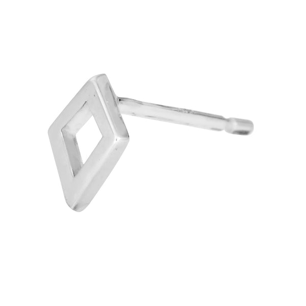 Kite stud earring in sterling silver