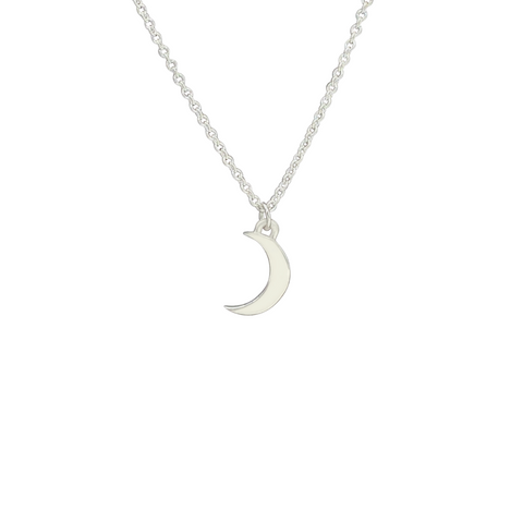 Silver Crescent Moon Charm necklace