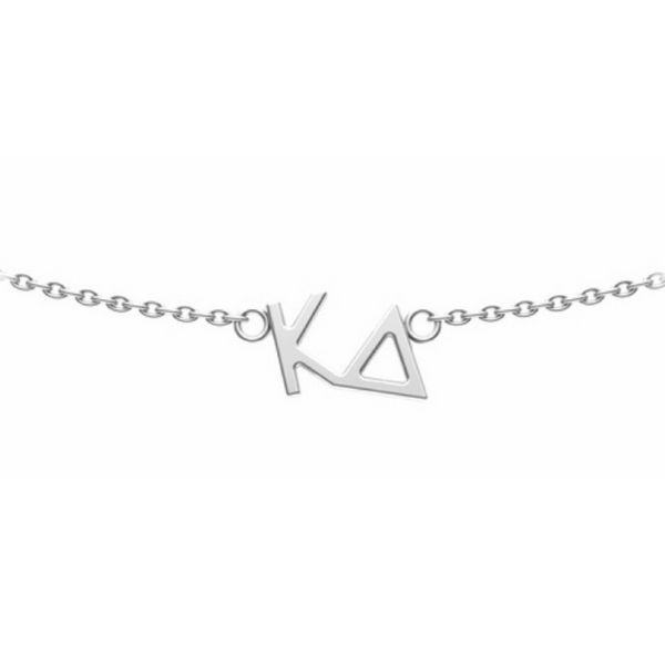 Kappa Delta (KD) Choker necklace in sterling silver