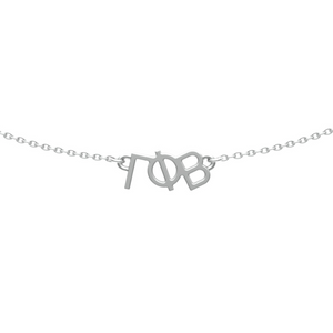 Gamma Phi Beta choker necklace in sterling silver