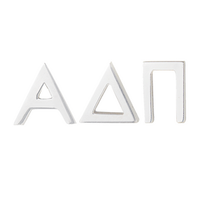 Silver Alpha Delta Pi earrings (ADPI)