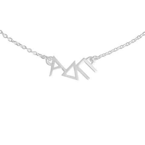 silver Alpha Delta Pi Necklace