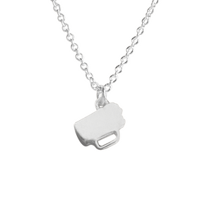 silver beer mug charm necklace