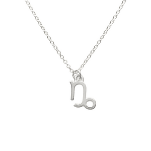 sterling silver capricorn sign zodiac necklace