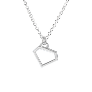 sterling silver diamond gem charm necklace
