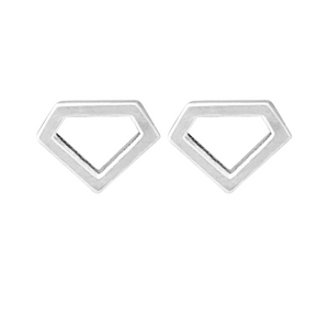 silver Diamond stud earrings