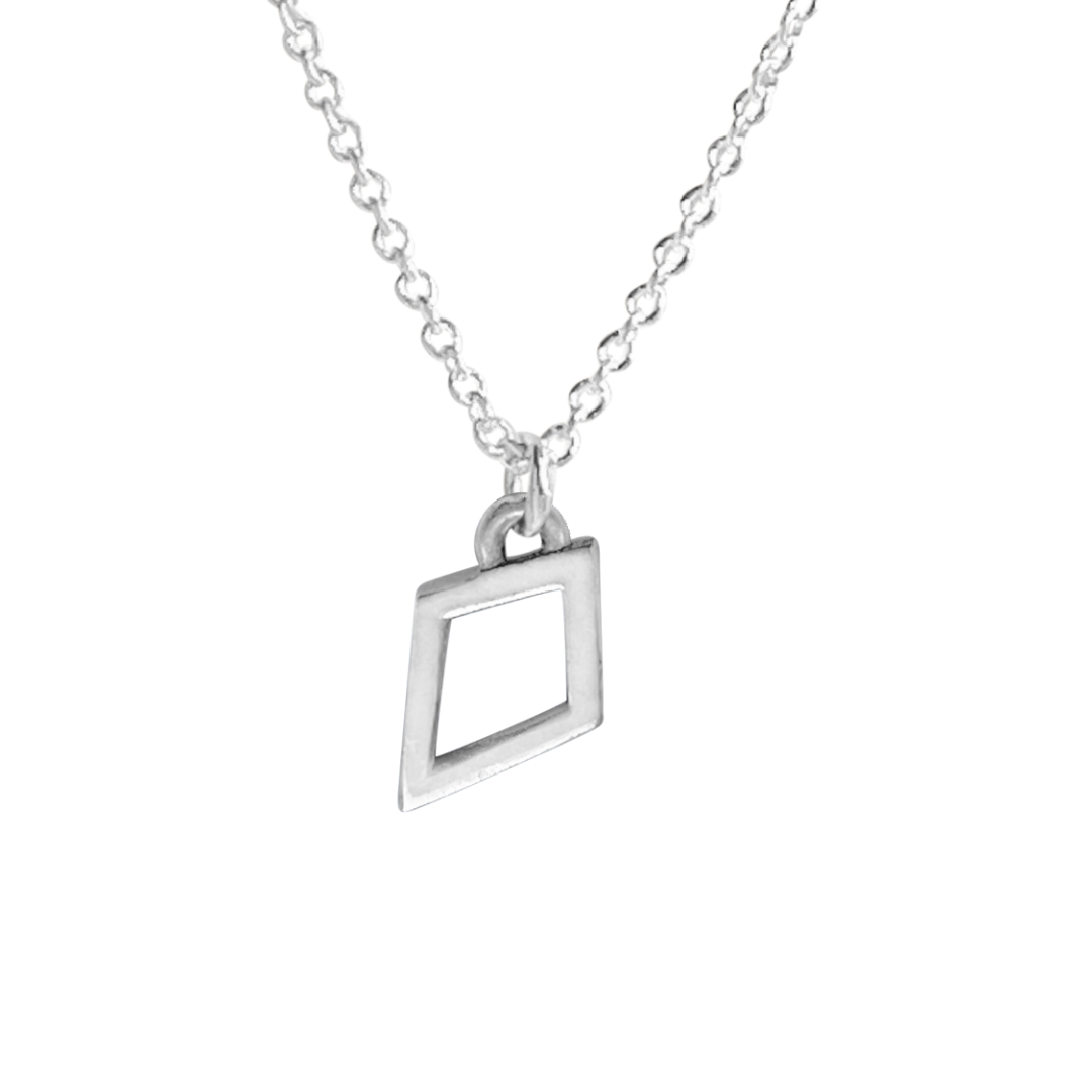 Sterling silver kite charm necklace which is also a Kappa Alpha Theta Kite