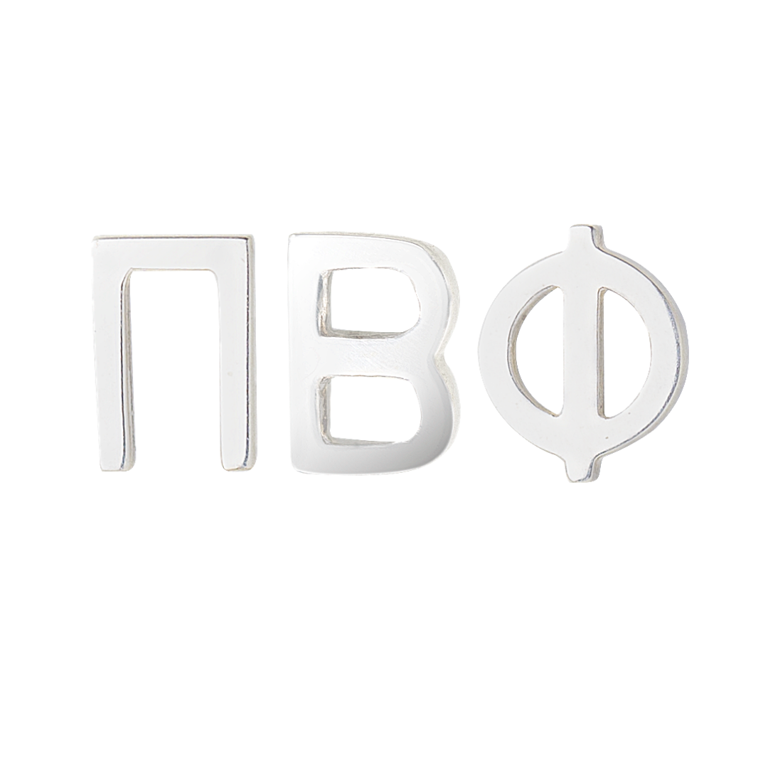 Silver Pi Beta Phi Earrings