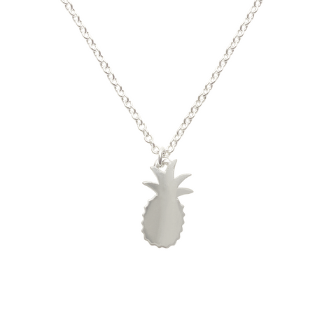 sterling silver pineapple charm necklace