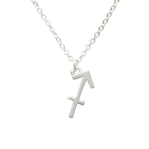 sterling silver sagittarius sign zodiac necklace