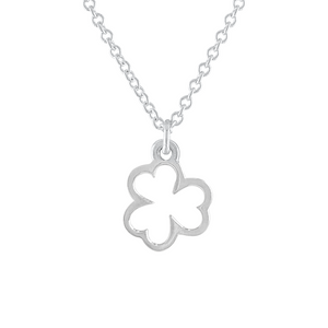 Sterling silver shamrock charm necklace