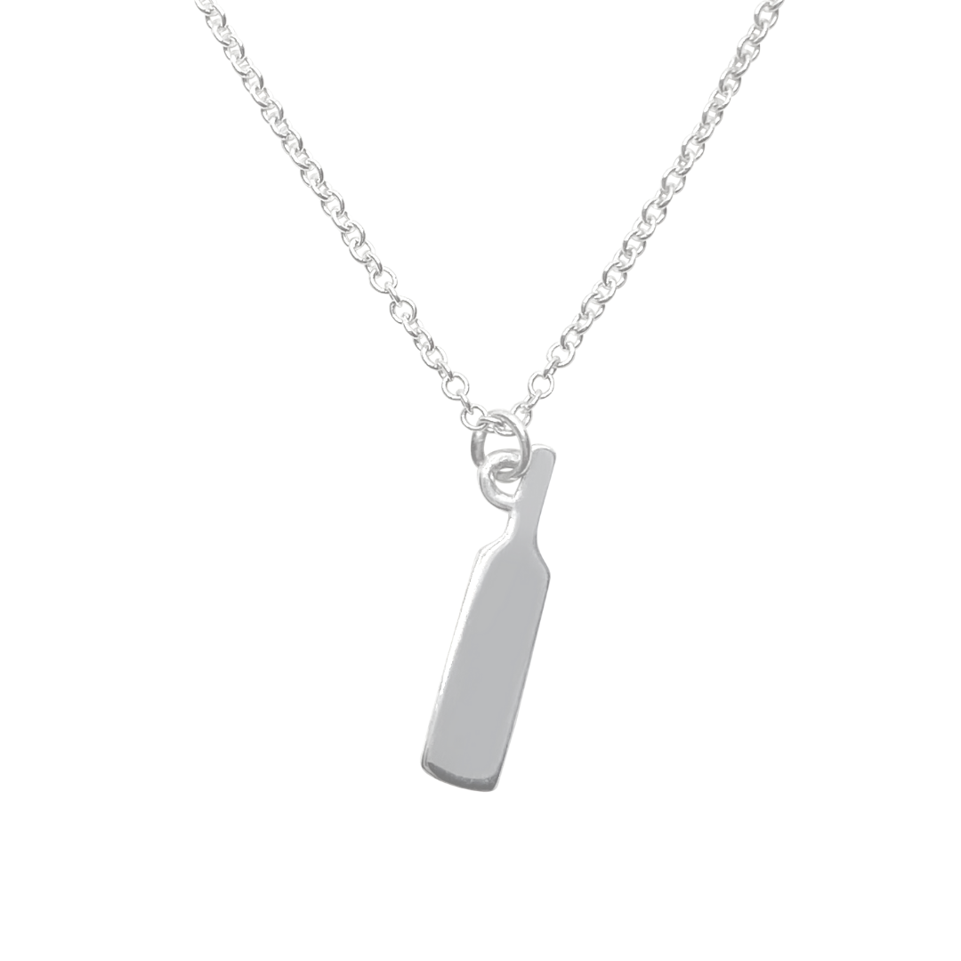 Silver Wine Bottle Charm Necklace