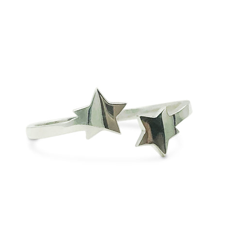 Open Star Ring in Sterling Silver
