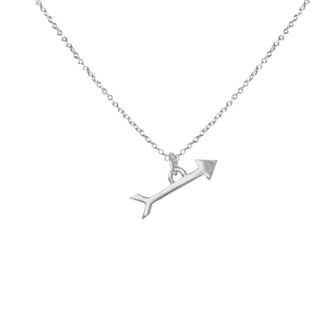 sterling silver arrow charm necklace