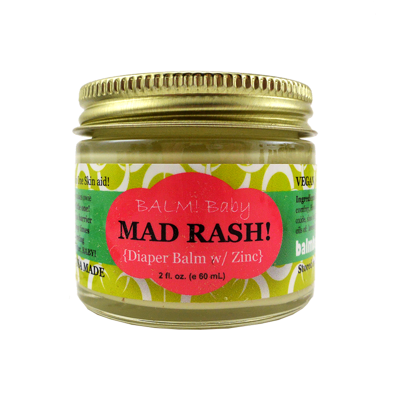 BALM! Baby - MAD RASH Diaper Balm and ALL purpose skin aid with natural, protecting zinc