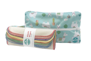Luludew - Cloth Wipes & Wet Bag Set - ZeroWaste