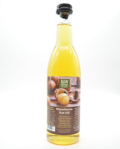 RAW Materials - Macadamia Nut Oil RAW Pure GMO FREE Kenyan - 12.7oz