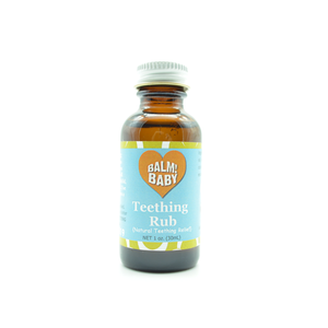 1oz. Teething Rub.  Plastic FREE Packaging!  We NEVER store Eos or ANY of our pure ingredients in toxic plastic (;  Health & Planet-safe!