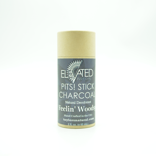 ELEVATED - PITS! CHARCOAL STICK Natural Deodorant - 2oz