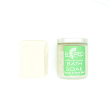 Load image into Gallery viewer, Eucalyptus & Muscle Relief Bath Soak with muslin bag