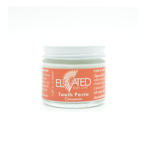 ELEVATED - Natural Tooth Paste - 2oz Plastic FREE jar *Fluoride / Sugar / Chemical FREE