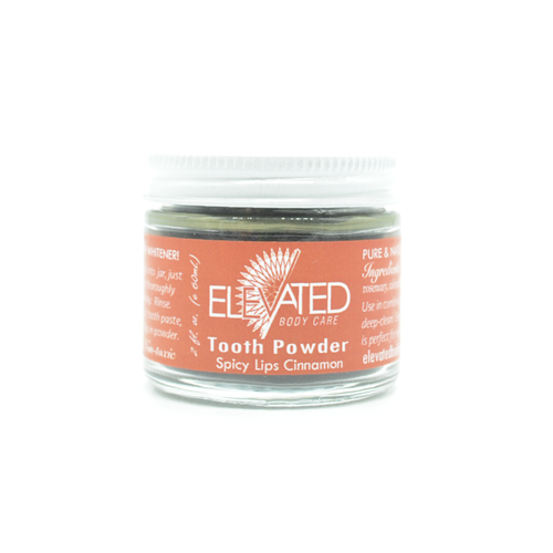 ELEVATED - TOOTH Powder - Plastic FREE jar 2oz