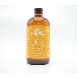 REFILL of ELEVATED - Hand Sanitizer w/ moisturizer (Natural) - 4oz., 8oz. or 16oz.