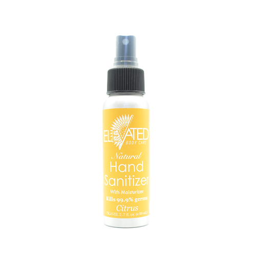 ELEVATED - Natural Hand Sanitizer - CHOOSE w/ OR w/o moisturizer; Size & Scent