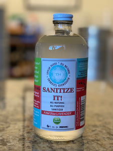REFILL- ELEVATED * SANITIZE IT!  Natural Household Sanitizer - 8oz or 16oz