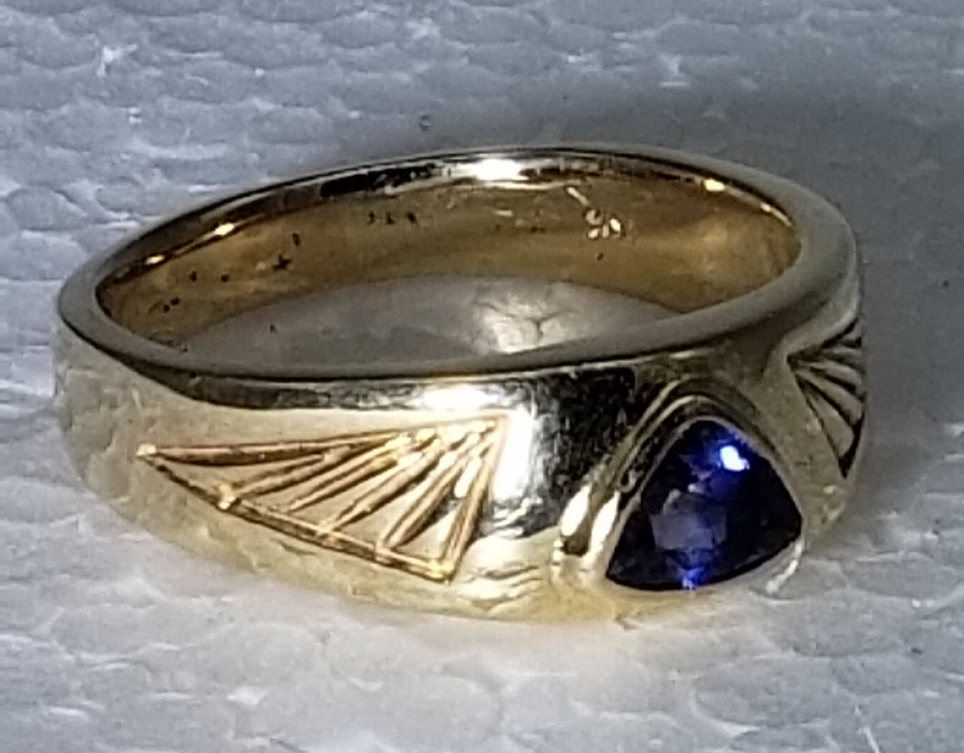 Sapphire Ring 14K yellow gold