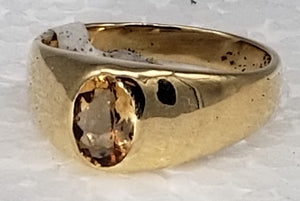 Imperial Topaz 14K yellow gold ring