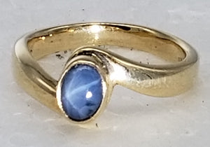 Star Sapphire Ring 14K yellow gold