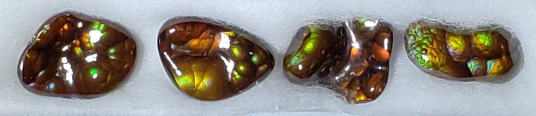 Fire Agate suite of 4