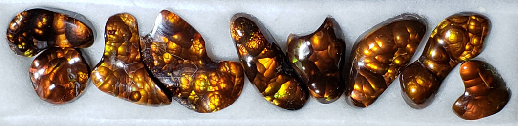 Fire Agate suite of 9