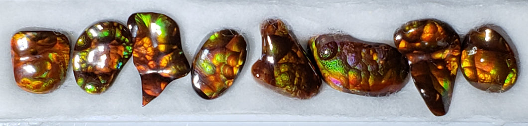 Fire Agate suite of 8