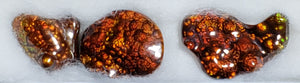 Fire Agate set of 3
