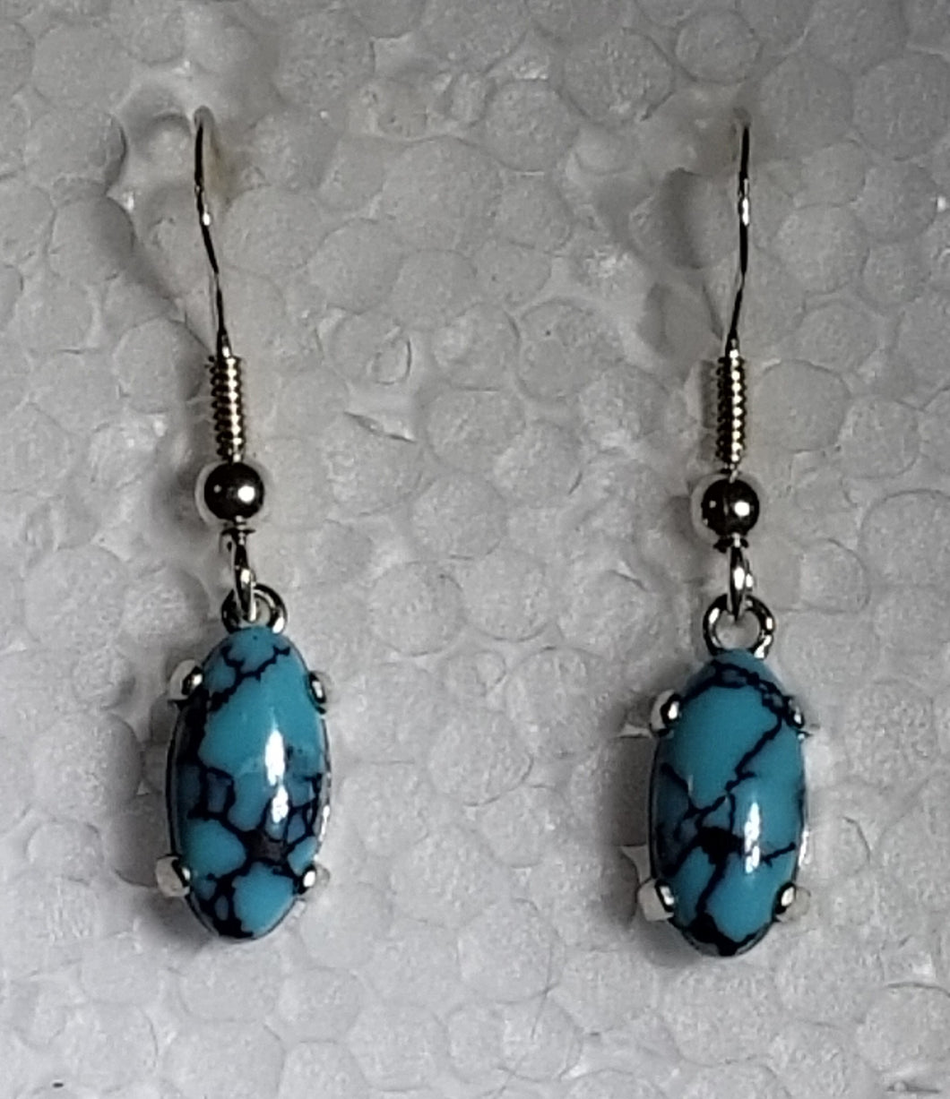 Spiderweb Turquoise Sterling Earrings