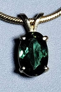 Tourmaline Pendant, 14K yellow gold