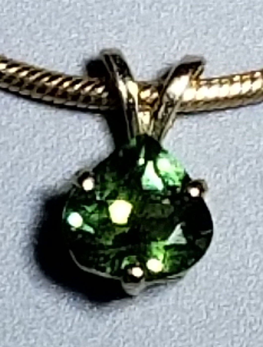 Tourmaline Pendant 14K yellow gold
