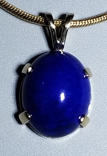 Lapis Pendant 14K yellow gold