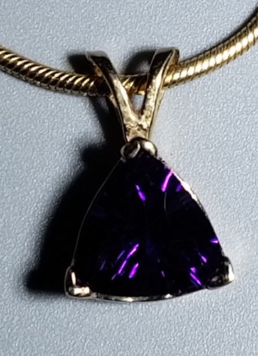 Amethyst Pendant 14K yellow gold