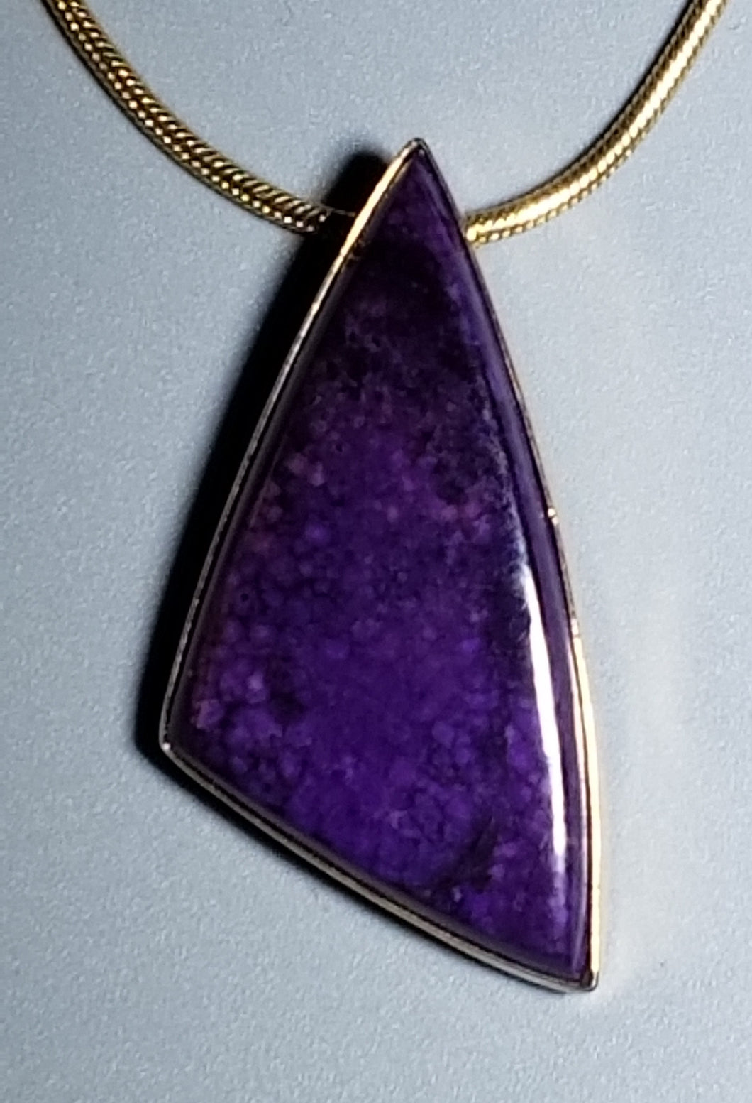 Sugilite Pendant 14K yellow gold