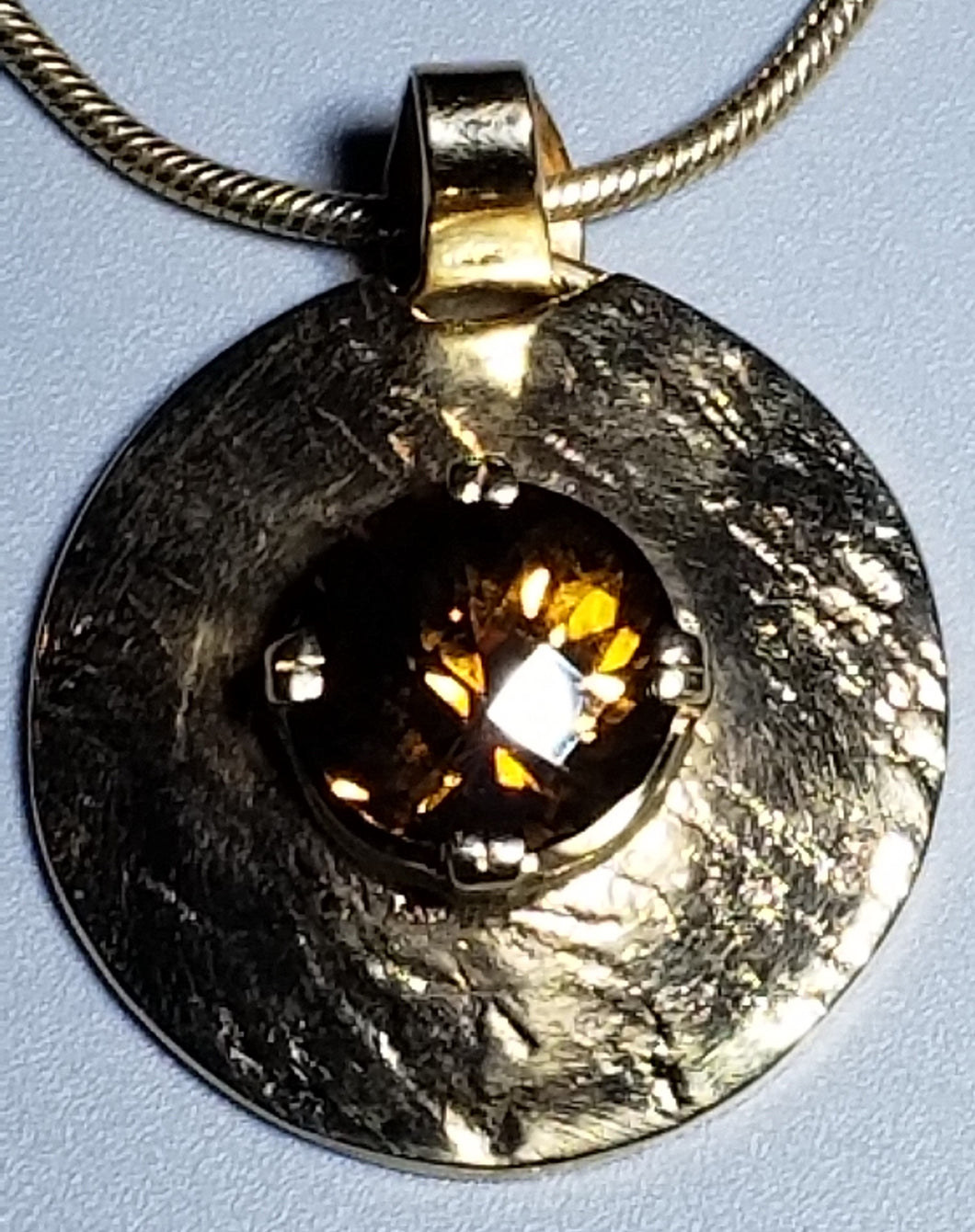 Chrysoberyl 14K yellow gold Pendant
