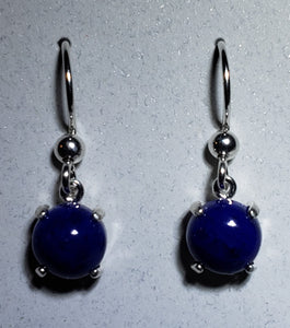 Lapis Earrings Silver