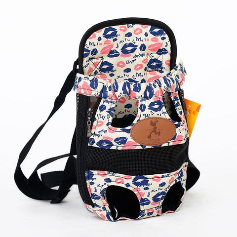 Lips Dog Backpack