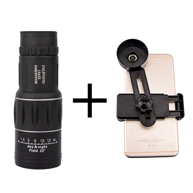 HD Dual Focus Telescope And Smartphone Holder