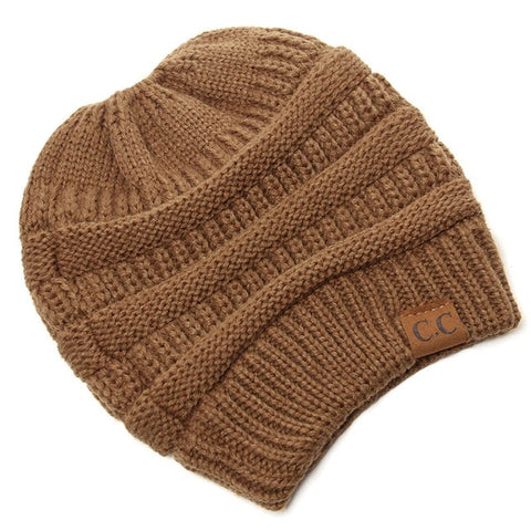 Image of Soft Knit Beanie Cap For Women