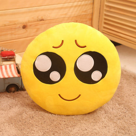 Image of Cute Faced Emoji Pillow